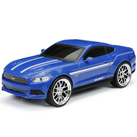 Mustang Card (New Bright RC Chargers 1:16 Scale Mustang Gt Radio Control Sports Car - Blue)