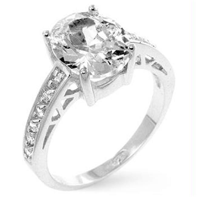 Oval Center Piece Engagement Ring, <b>Size :</b> 05