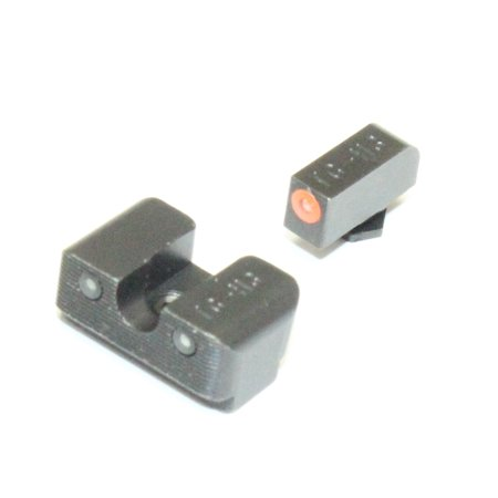 TruGlo TG231G1C Tritium Pro Orange Outline Fr Glock 17 19 22 26 34 Night (Gen 4 Glock 19 With Night Sights)