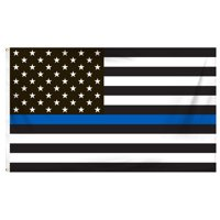 7cc302bf3565 Product Image Thin Blue Line American Flag 3ft x 5ft Printed Polyester