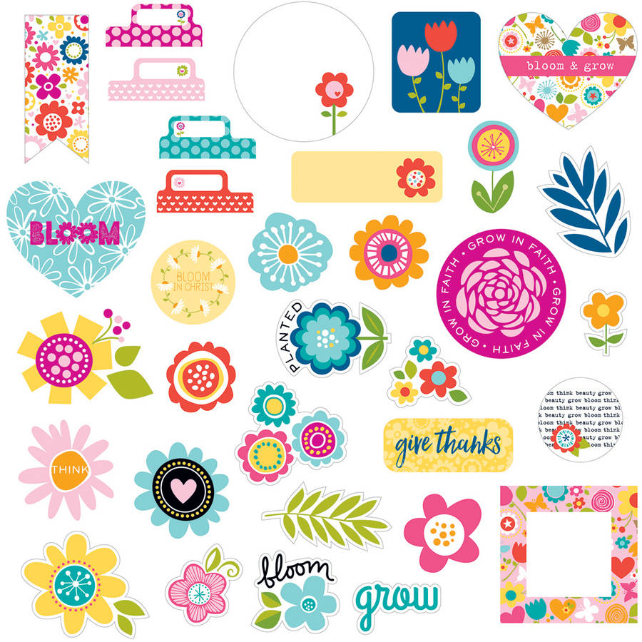 Bella Blvd Illustrated Faith Basics Paper Pieces Cardstock Die-Cuts-Encouragemen
