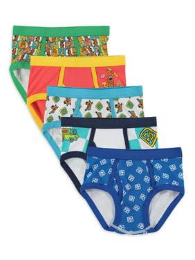 Scooby-Doo Boys Underwear, 5 Pack Briefs, Sizes 4 - 8
