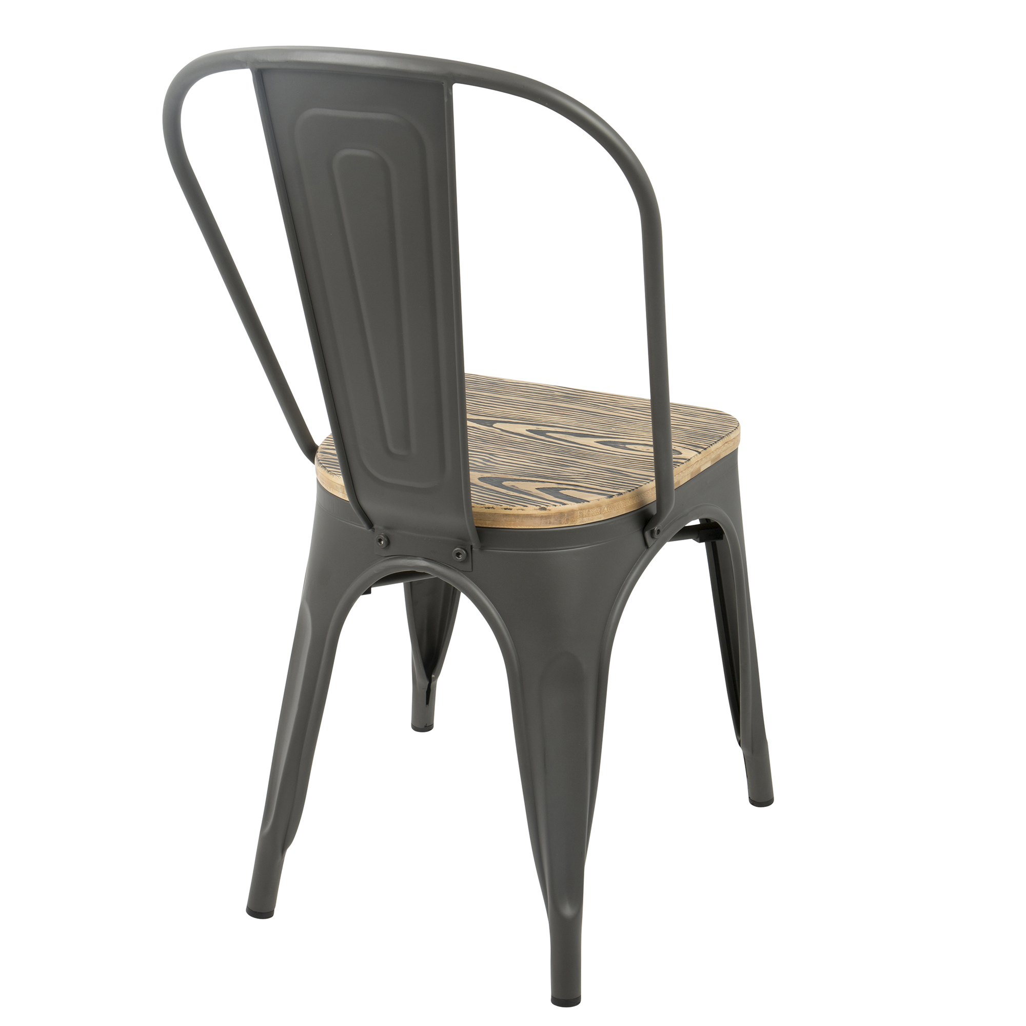 Oregon Farmhouse Stackable Dining Chair In Grey And Brown By Lumisource Set Of 2