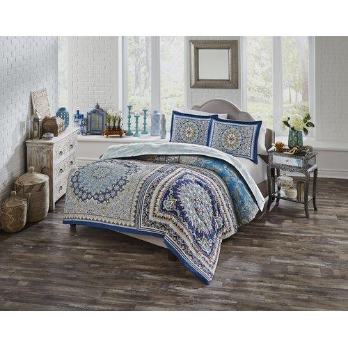 Bungalow Rose Hilario 100pct Cotton Reversible Comforter Set