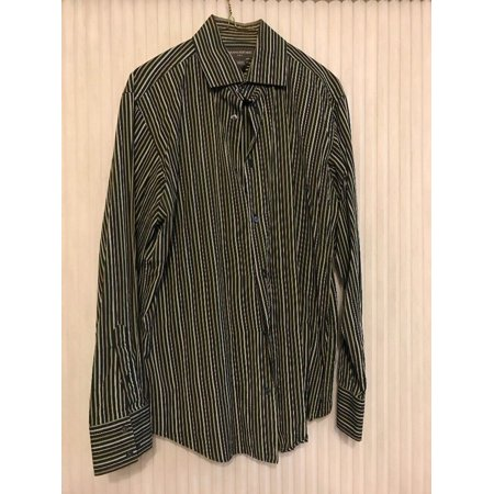 Banana Republic 100% Cotton Long Sleeve striped shirt Men's size L Ships N 24h Banana Republic Long Sleeve Shirt