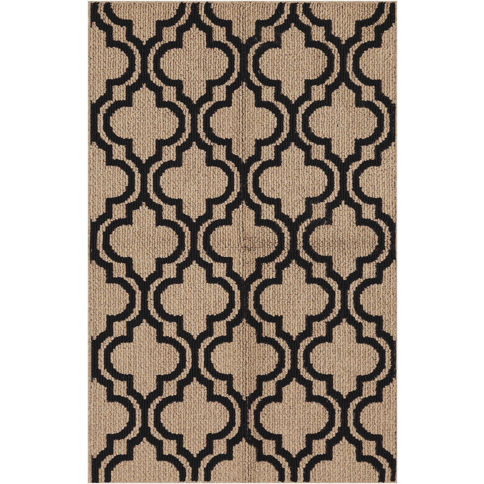 Mainstays Black Trellis Accent Rug