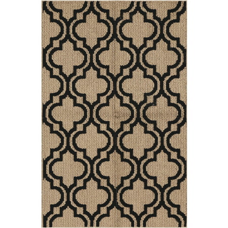 Black Transitional Rug - Mainstays Black Trellis Accent Rug