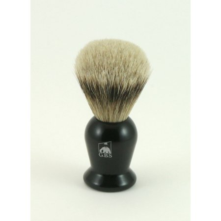 GBS 100% Silvertip Black Handle Badger Shaving Brush Comes with Chrome