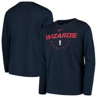 Washington Wizards Nike Youth Practice Logo Legend Long Sleeve Performance T-Shirt - Navy