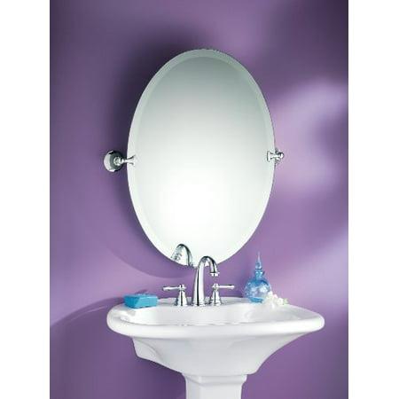 Moen Dn2692ch Glenshire Bathroom Oval Tilting Mirror Chrome