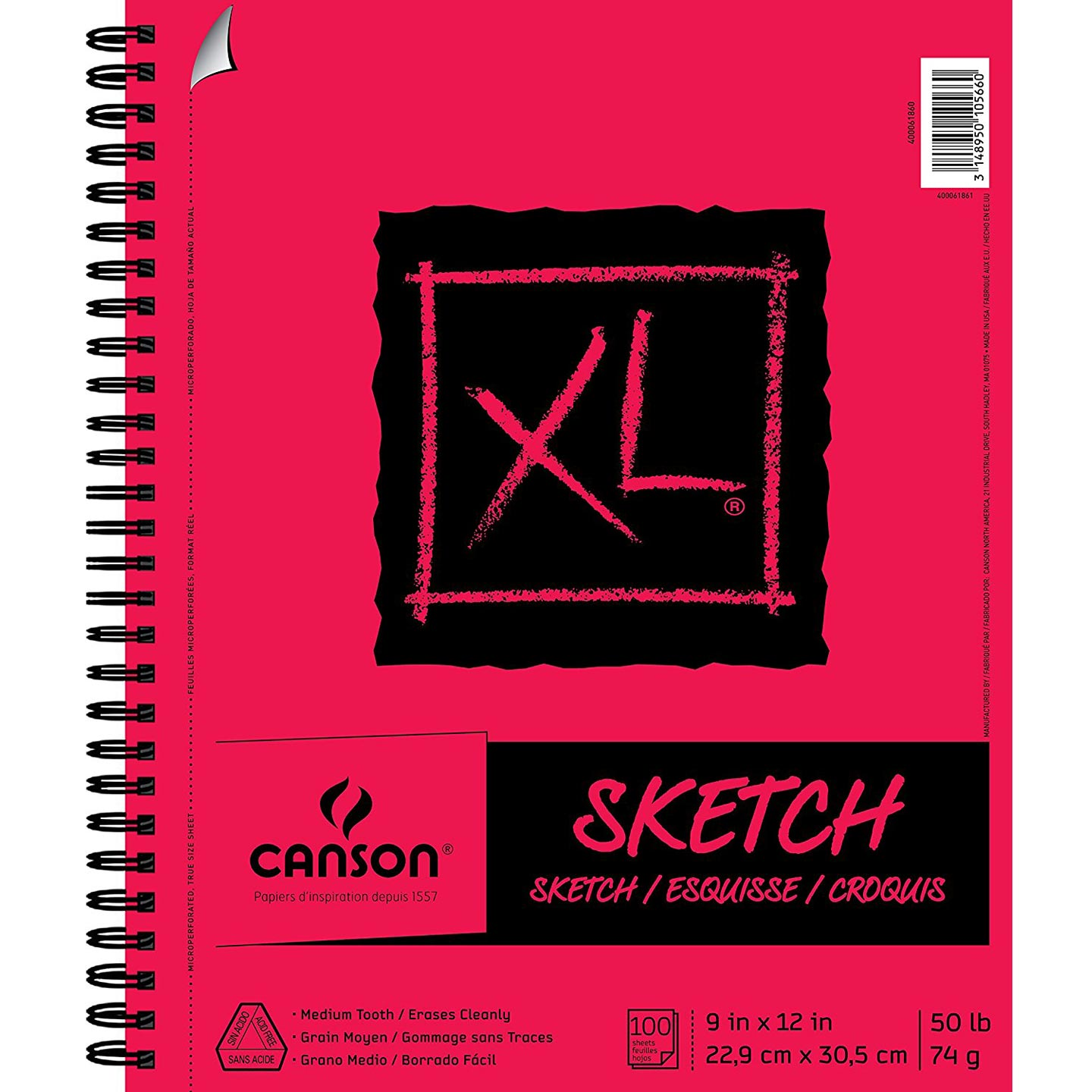 Canson XL Sketching Paper Pad: 9 x 12 inches