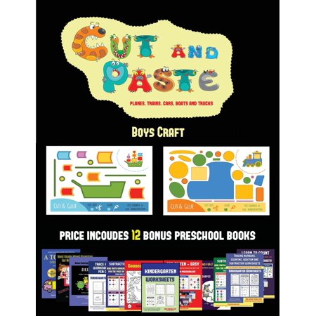 Boys Craft: Boys Craft (Cut and Paste Planes, Trains, Cars, Boats, and Trucks): 20 full-color kindergarten cut and paste activity sheets designed to develop visuo-perceptive skills in preschool childr - Halloween Crafts Kindergarten Class