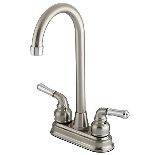 "Kingston Brass Magellan Two Handle 4"" Centerset High-Arch Bar Faucet - image 1 of 1"