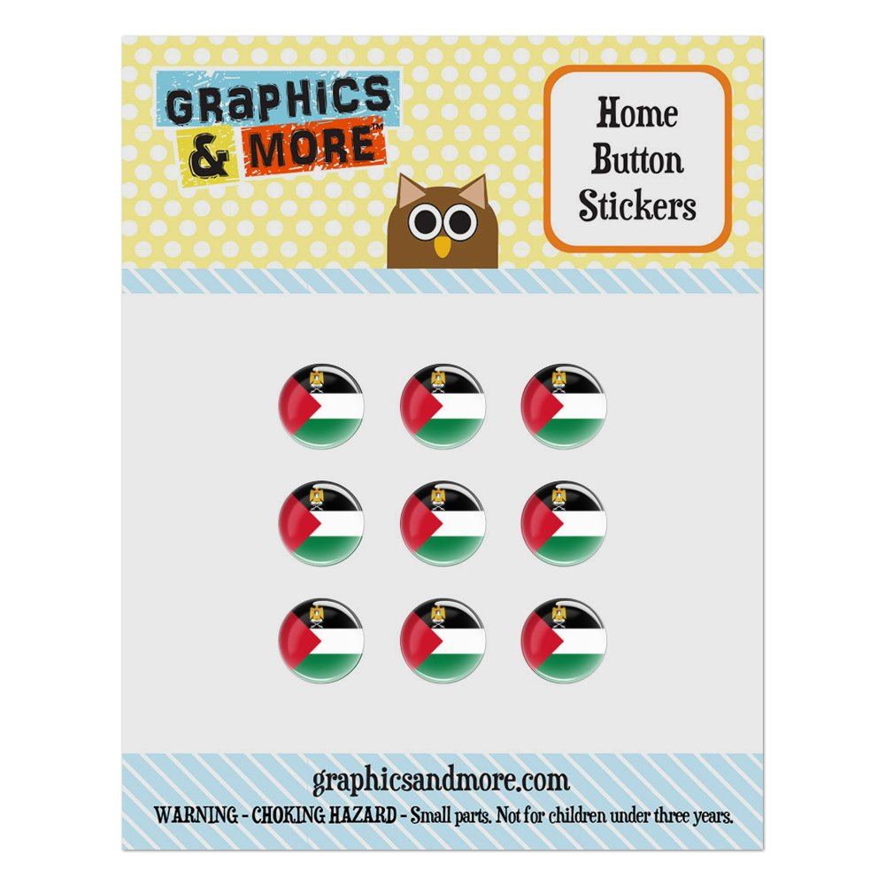 Palestine National Country Flag Home Button Stickers Set Fit Apple iPhone iPad iPod Touch