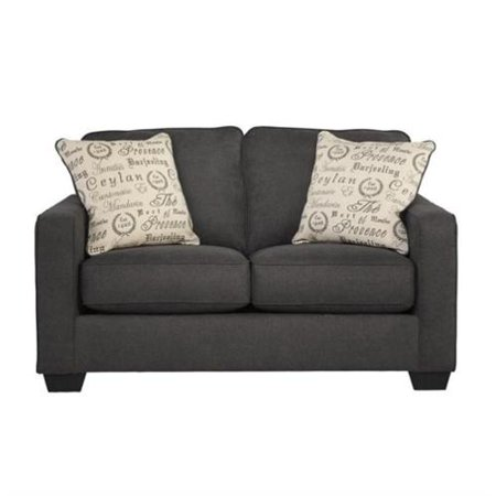 Signature Design By Ashley Furniture Alenya Microfiber Loveseat In Charcoal