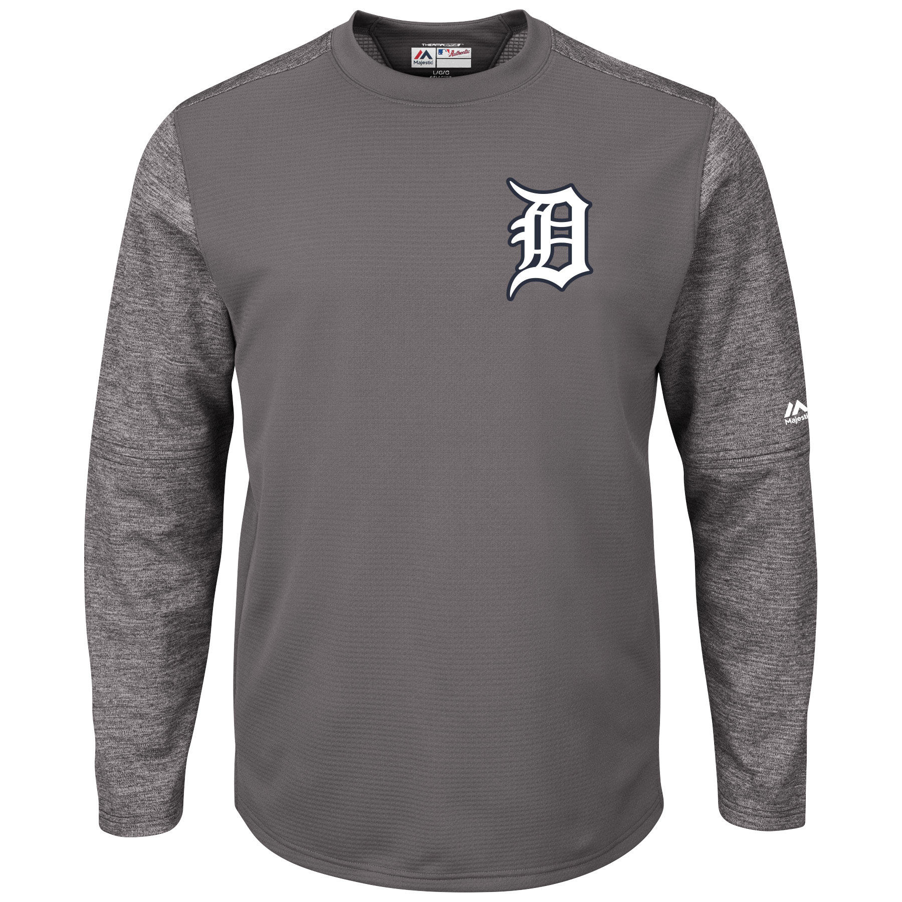Detroit Tigers Majestic Alternate Authentic Tech Fleece Pullover Sweatshirt - Graphite