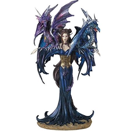- George S. Chen Imports SS-G-91276 Fairy Collection Pixie with Dragon Fantasy Figurine Figure Decoration