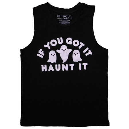 Womens Black If You Got It Haunt It Halloween T-Shirt Ghost Tank Top Shirt - Gay Halloween Meme