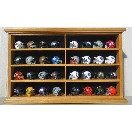 Pocket Pro Mini Football Helmet Display Case Cabinet Holders Rack w/ UV Protection - Pocket Pro Mini