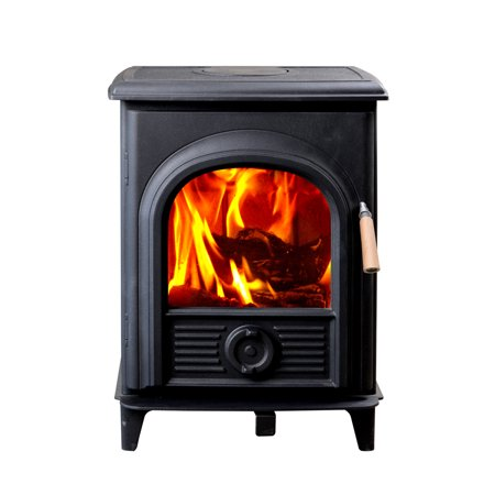 HiFlame EPA approved 85% efficiency 800sq ft steel body wood burning stove HF905U Paint Black