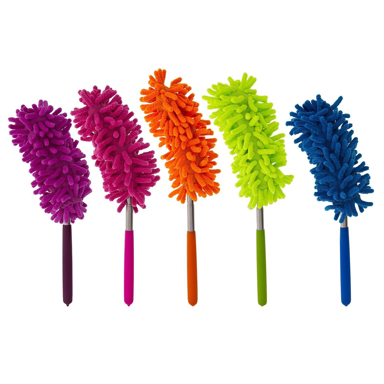 12pc Extendable Flexible Feather Duster For Home And Office Cleaning Supplies