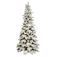 Vickerman A146885 9 ft. x 50 in. Medium Flocked Kodiak Spruce Artificial Christmas Tree Unlit with 2145 Tip Count & 75 Multi-Colored G40 LED Light