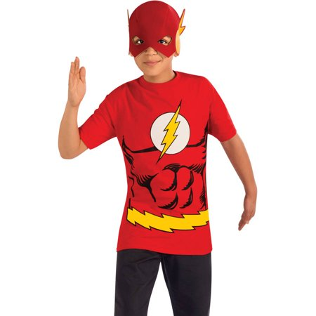 Flash Shirt Mask Boys Child Halloween Costume](Kid Flash Costumes)