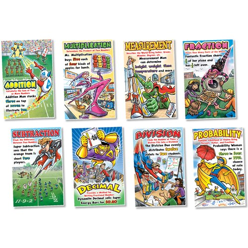 Northstar Teacher Resource Math Superheroes Poster Set