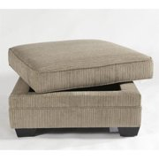 Signature Design by Ashley Furniture Katisha Square Storage Ottoman in Platinum