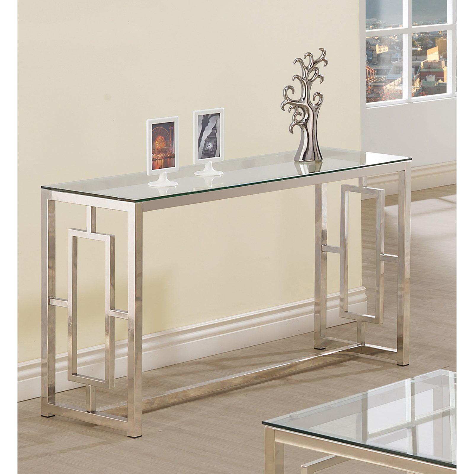 Coaster Company Sofa Table, Nickel