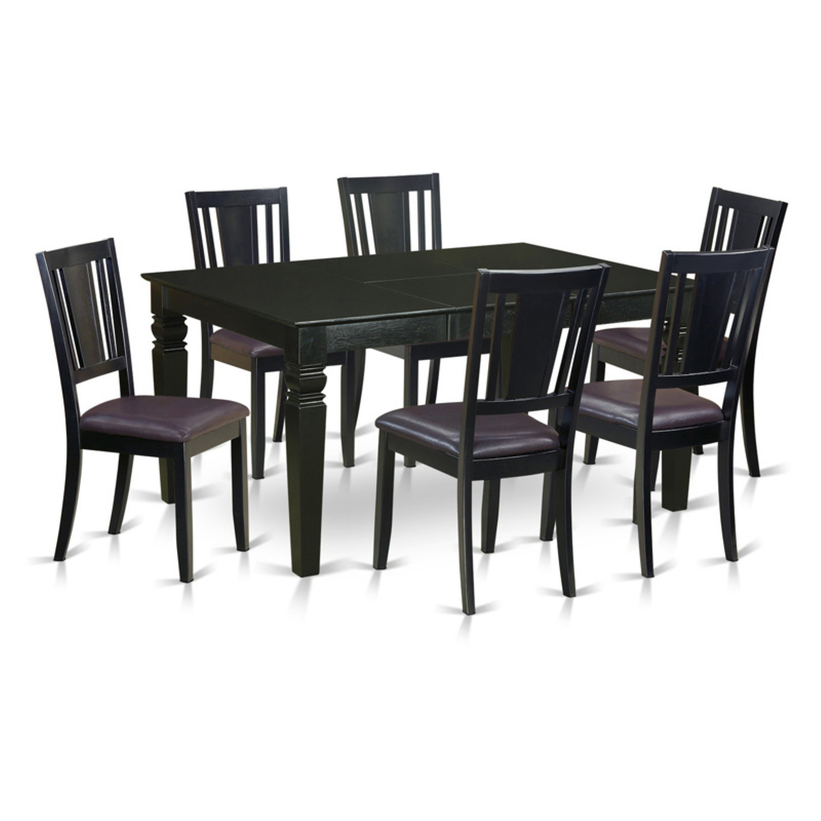 East West Furniture Weston 7 Piece Scotch Art Dining Table Set