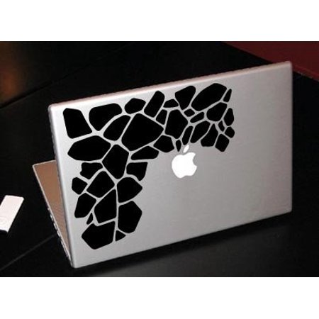 Giraffe Print Jungle Animal Fashion Macbook Car Tablet Art - Black Vinyl Decal for 13
