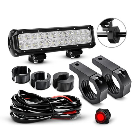 Nilight 12 Inch 72W Spot Flood Combo LED Light Bars Off-Road Light on toyota tacoma fog light switch harness, driving light harness, off-road roof light bars for jeeps, off-road light switches, off-road switch panel, off-road hid lights, off-road light cover,