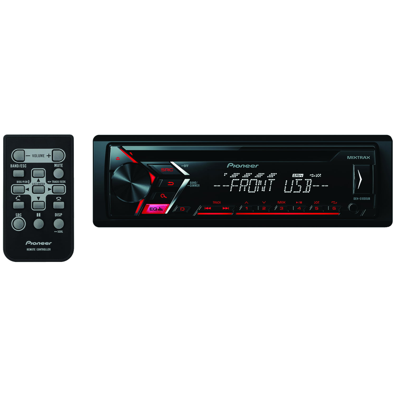 Pioneer DEHS1000UB Single DIN Car Stereo With MP3 Playback