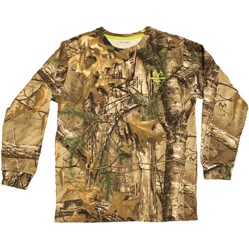 Boys' Long Sleeve Camo Tshirt, Xtra