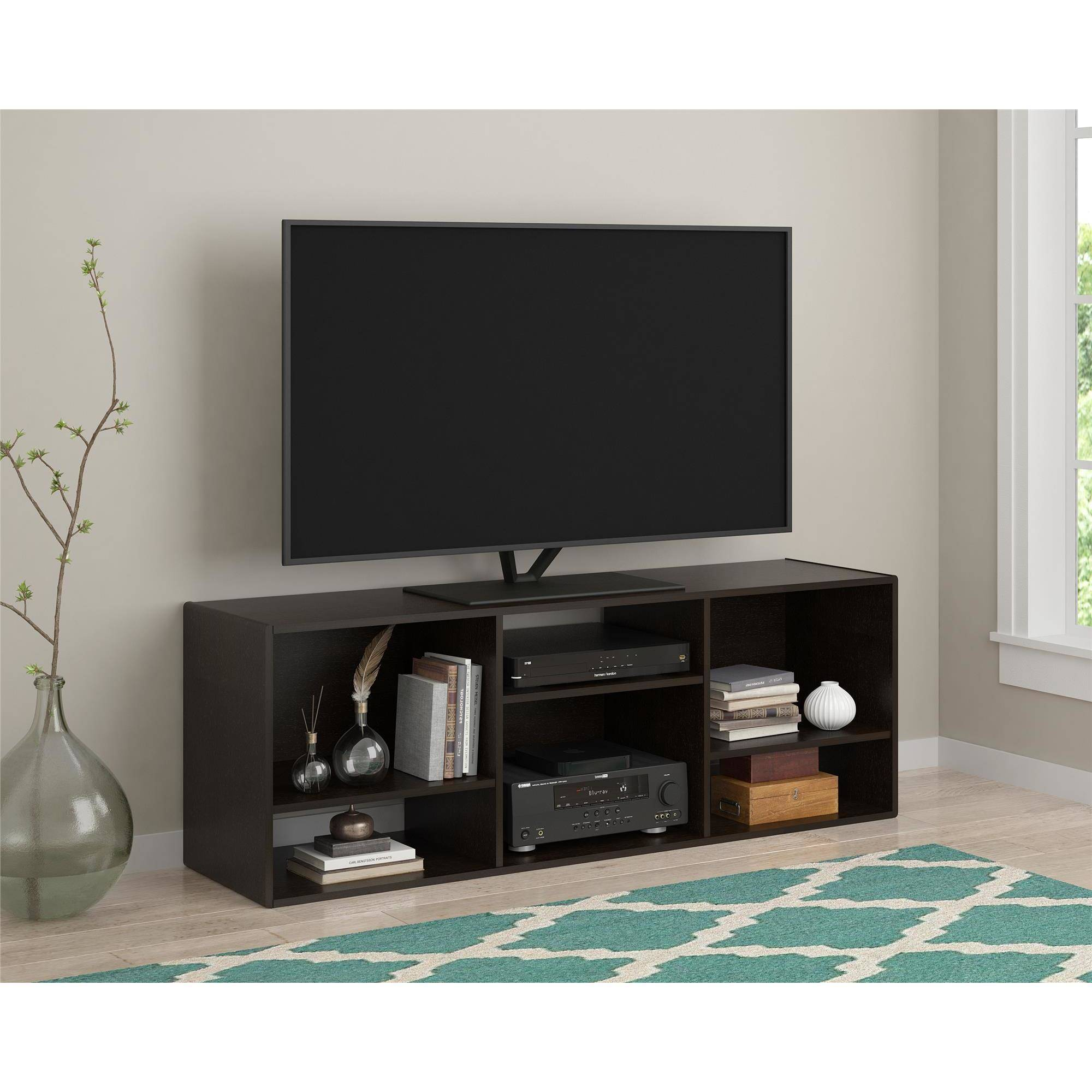 "TV Stand or Shelving Unit for TVs up to 55"", Espresso"