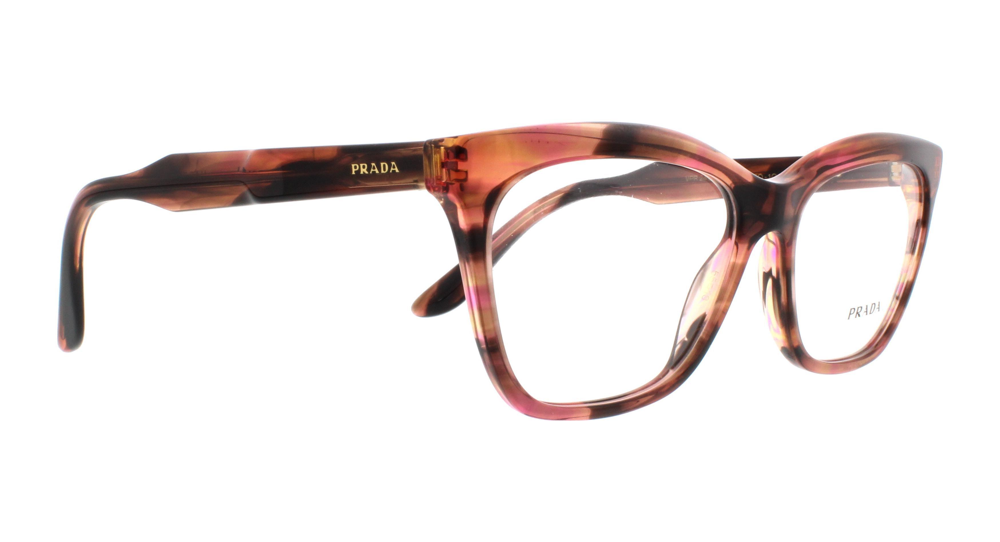 defb9217ea PRADA Eyeglasses PR24SV UEO1O1 Striped Brown 55MM - Walmart.com