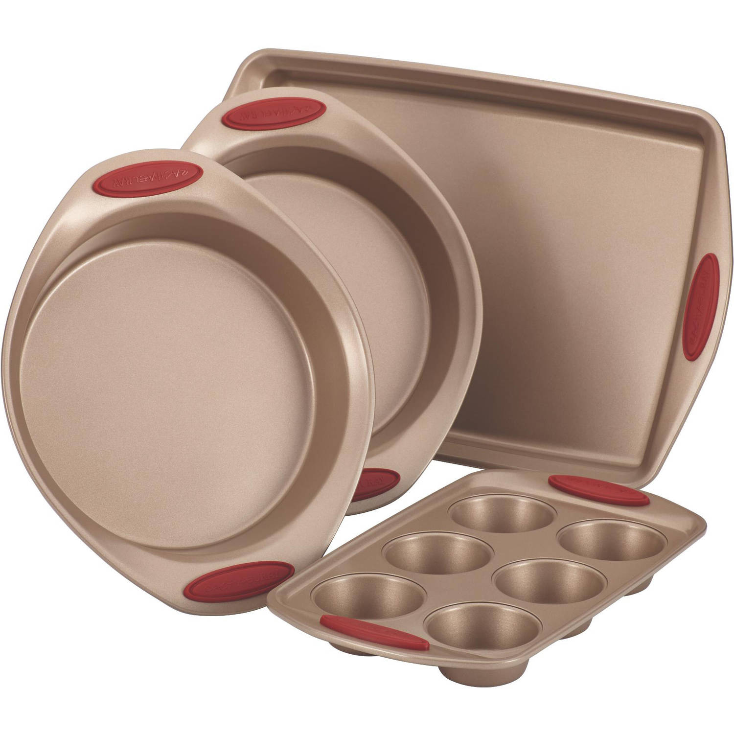 Rachael Ray Cucina Nonstick Bakeware 4-Piece Set, Latte Brown