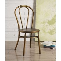 Benzara Set of Two Metal Side Chairs, Antique Copper