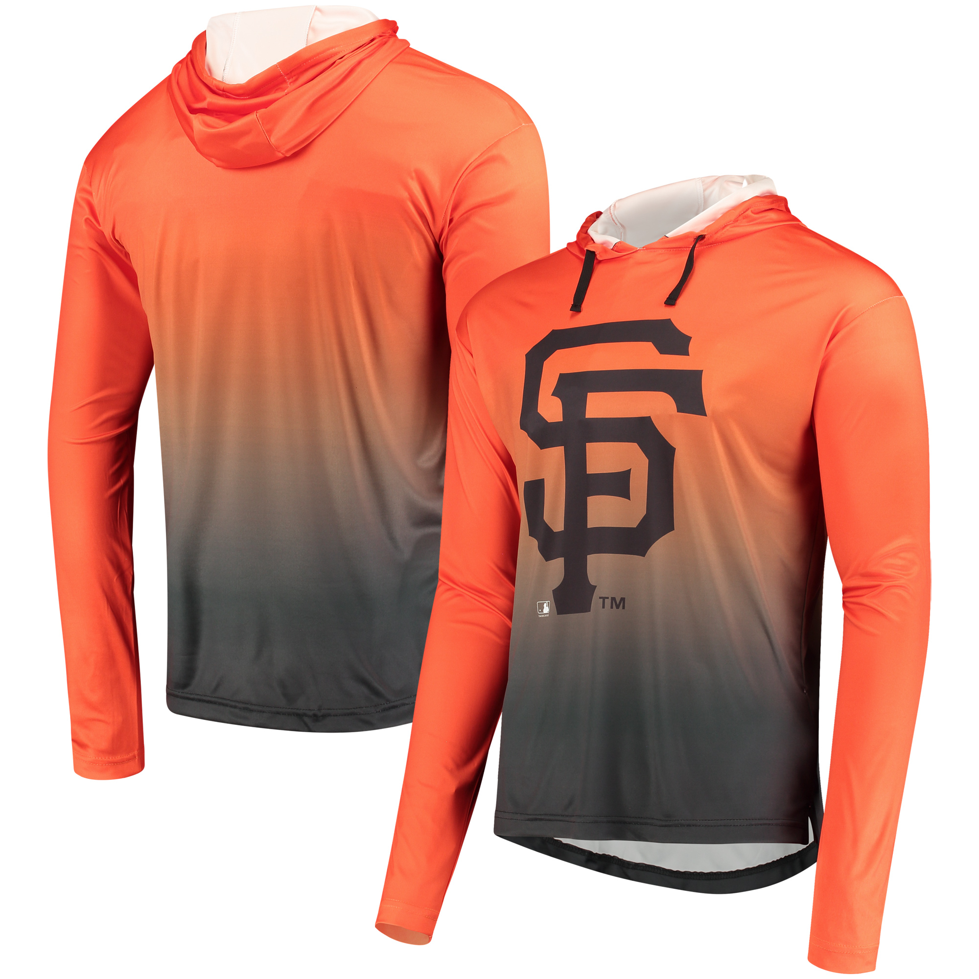 San Francisco Giants Gradient Pullover Hooded Sweatshirt - Orange