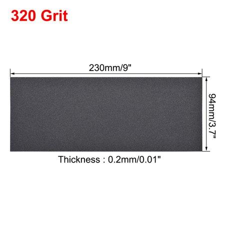 Waterproof Sandpaper, Wet Dry Sand Paper Grit of 320, 9 x 3.7inch 5pcs - image 3 de 5