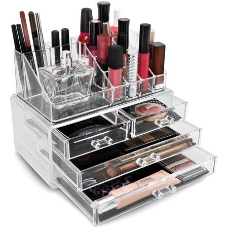 Sorbus Acrylic Cosmetics Makeup Organizer Case Storage Insert Holder Box
