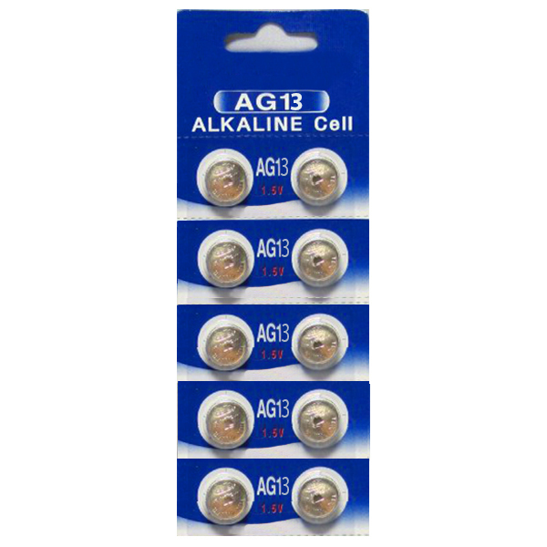 AG13 / LR44 Alkaline Button Watch Battery 1.5V - 30 Pack - FREE SHIPPING
