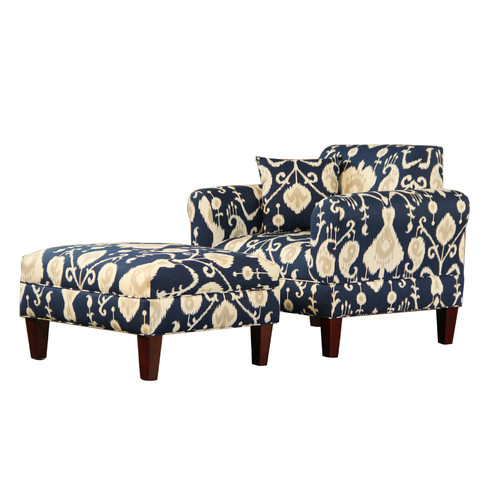 Carolina Accents Briley Java Armchair and Ottoman by