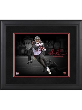 """Mike Evans Tampa Bay Buccaneers Framed 11"""" x 14"""" Spotlight Photograph - Facsimile Signature"""