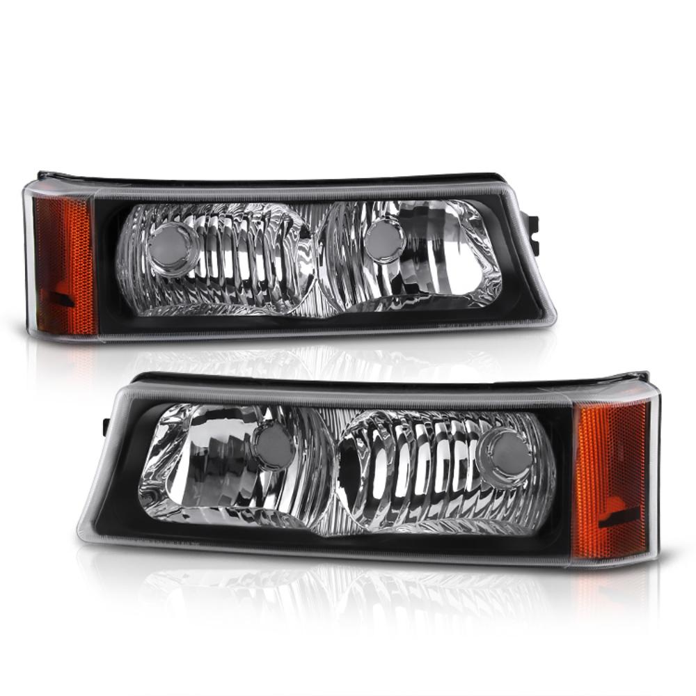 VIPMOTOZ Front Bumper Fog Light Assembly For 2003-2006 Chevy Avalanche & Silverado 1500 2500 3500