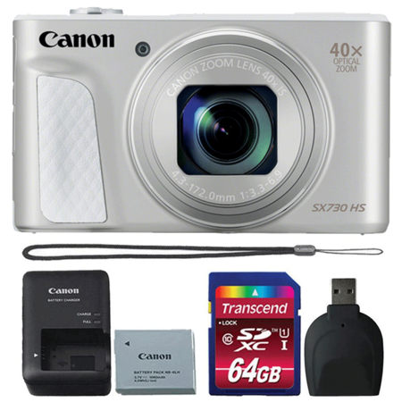 canon powershot sx730 hs digital camera silver with accessories. Black Bedroom Furniture Sets. Home Design Ideas