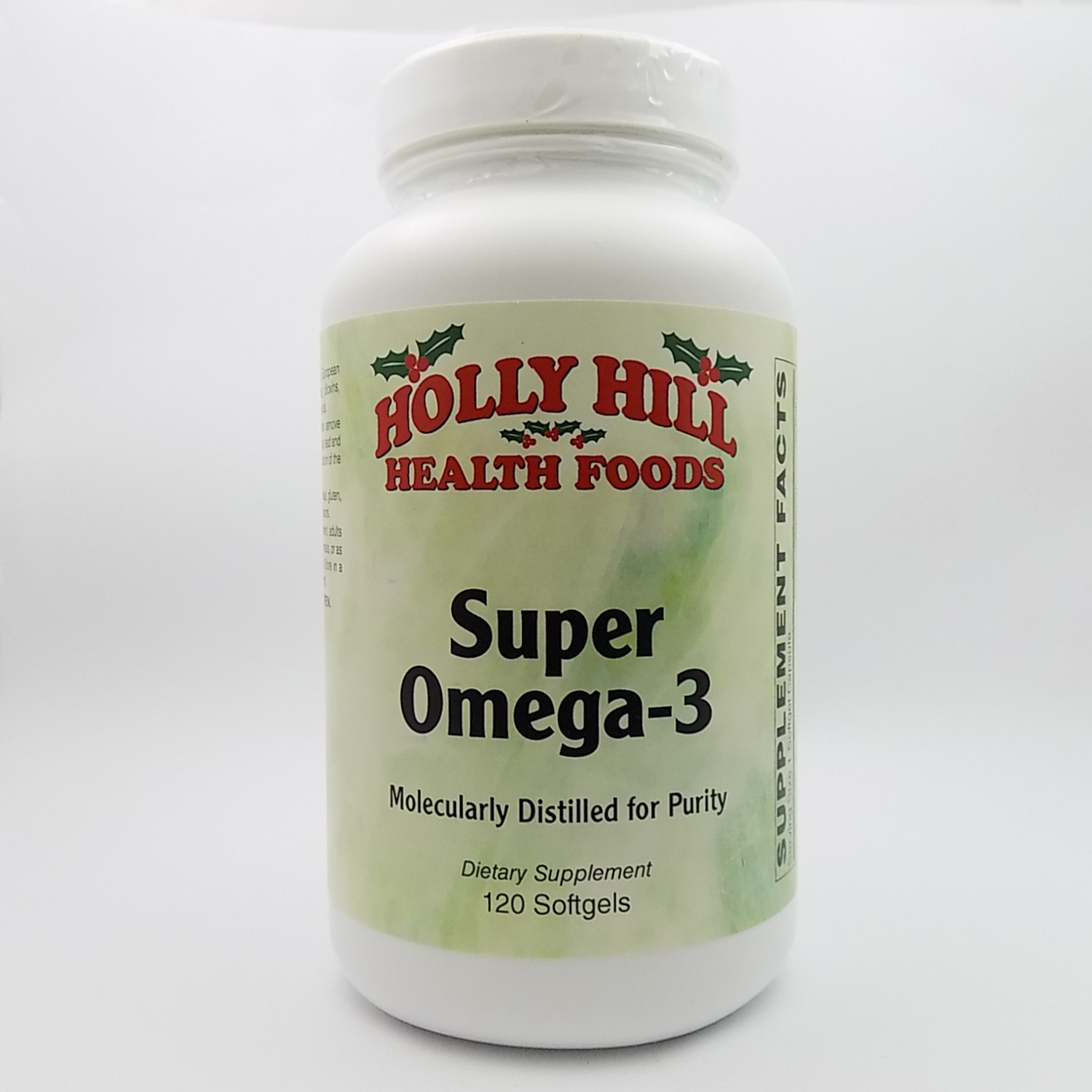 Holly Hill Health Foods, Super Omega 3 (Molecularly Distilled for Purity), 120 Softgels