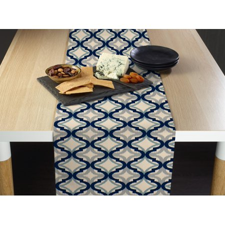 Blue Diamond Ogee Table Runner 12