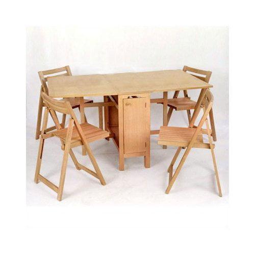 Linon Space Saver 5 Piece Dining set